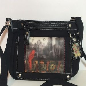 Sherpani Willow Mid Size Crossbody Bag Black